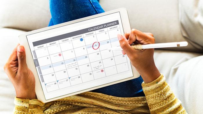 usa un calendario para ser emprendedor